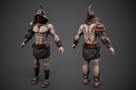 Gladiator game character