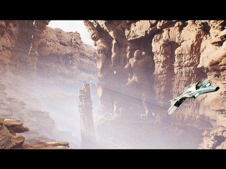 Flying around The Canyon of the Forgotten