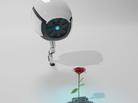 Robot Discovering Rose
