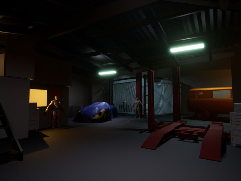 Blowing House Garage (UE4)