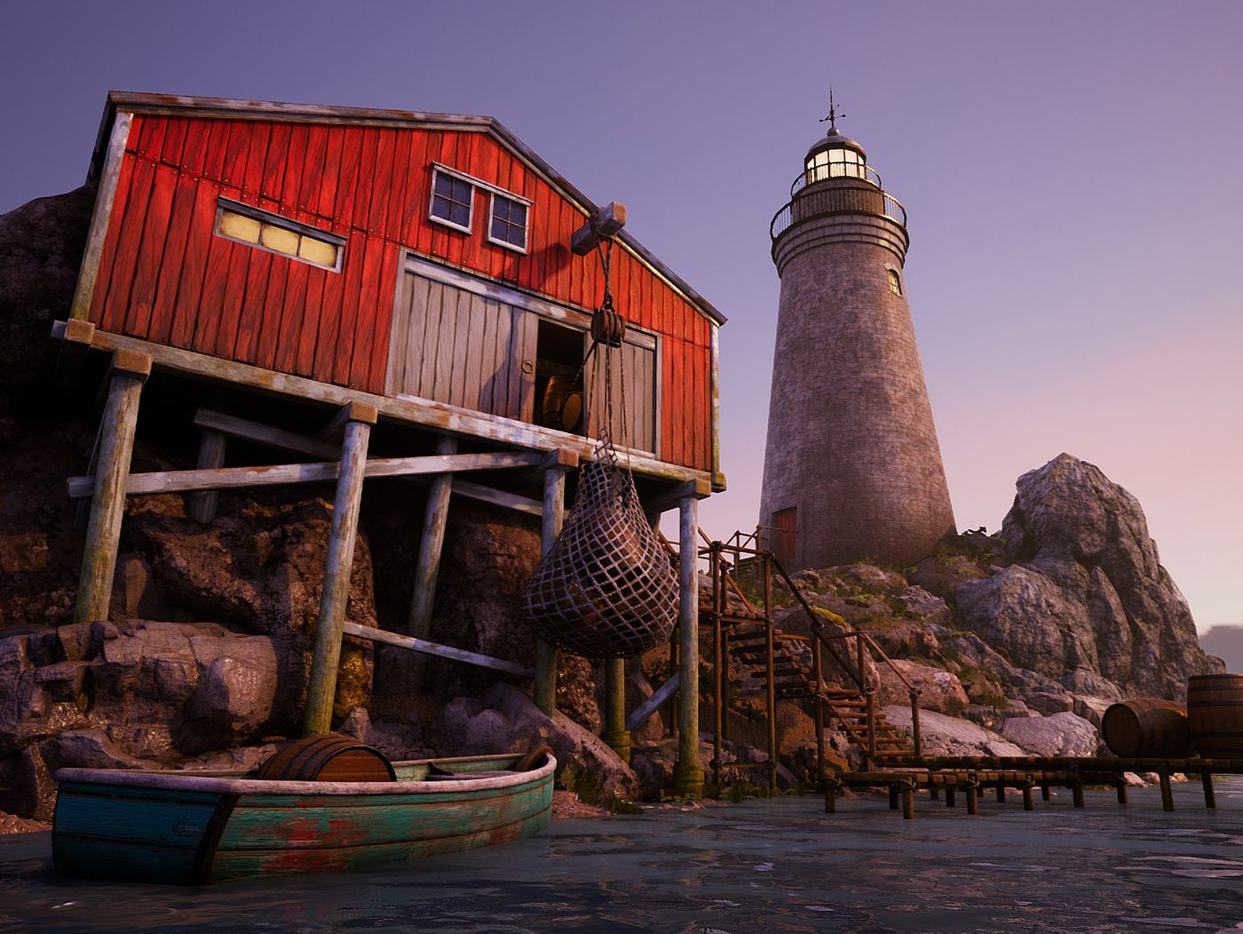 The Boathouse - 3 Day Art Test (UE4)