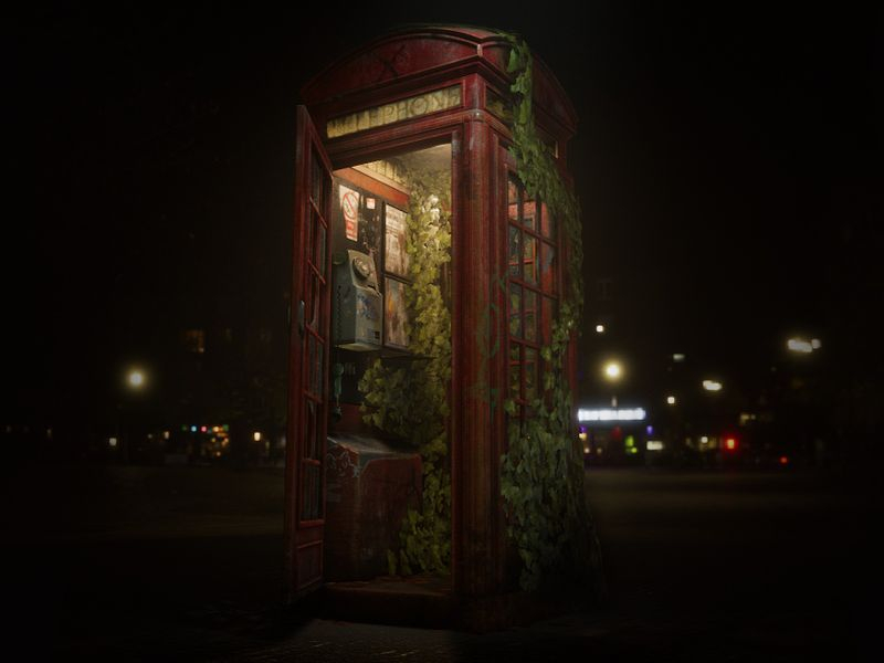 Dead Tone - Abandoned Telephone Box (UE4)