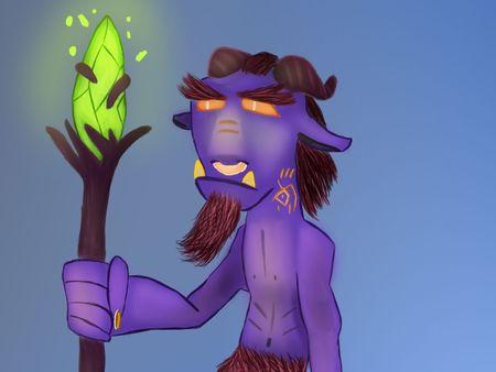 Oldly Fantasy Goat Character