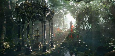 Victorian Gazebo Jungle Scene [UE4]