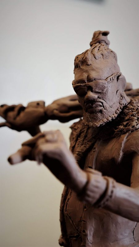 Brix (Cyberpunk clay sculpture)