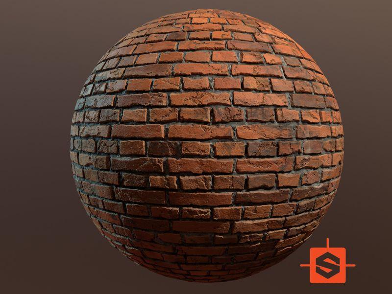 Procedural Brick Material