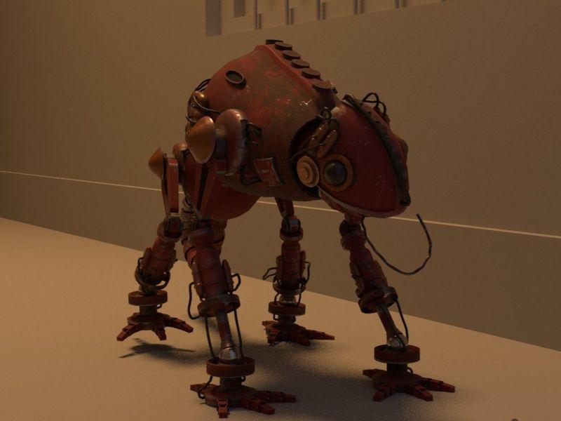 Mechanical Chameleon short