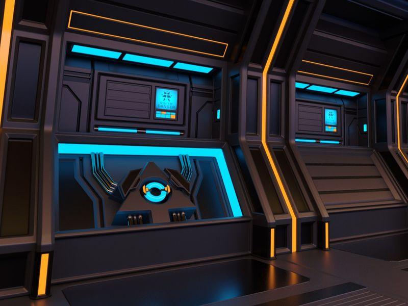 Clean Sci-Fi Modular Tunnel