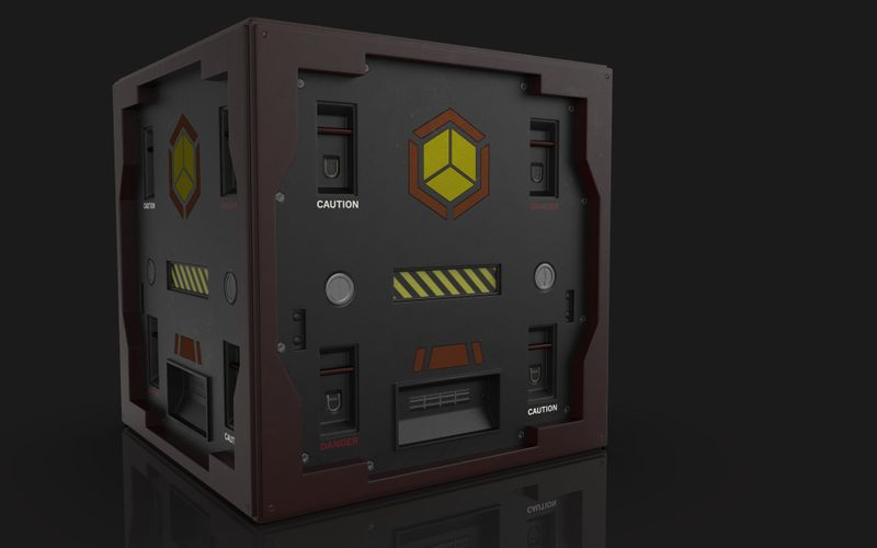 Futuristic Weapon/Ammunition Crate