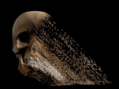 skull disintergration