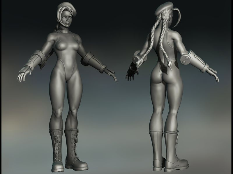 Street Fighter Cammy Fan Sculpt