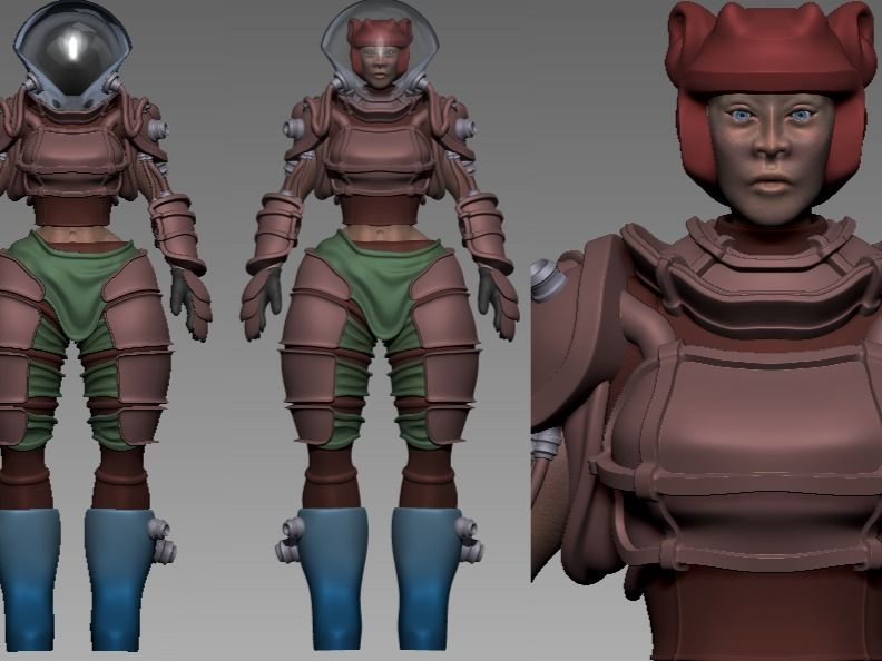 Female Space Scrapper