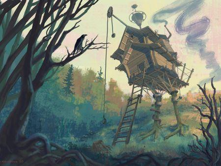 Baba Yaga's Hut inside her Magic Fortress.