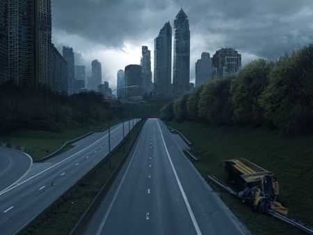 Compositing:  Abandoned City