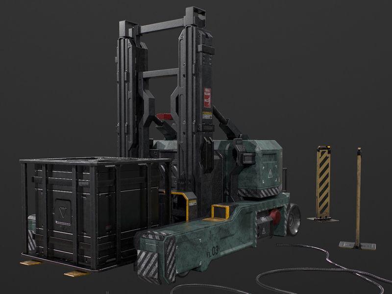 Star Citizen Forklift Fan Art - Game Asset