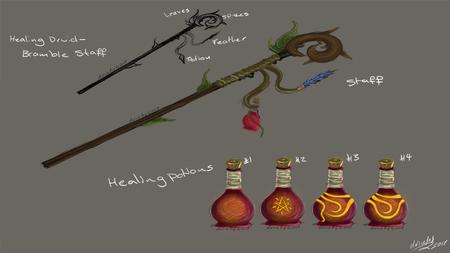 Resto Druid Staff Concepts