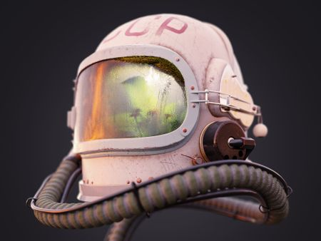 Space helmet study