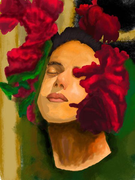 Rami Malek and Roses