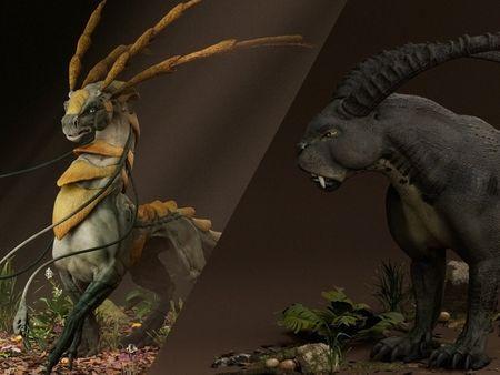 Sikari and Panthera Ibex - Organic Modeling
