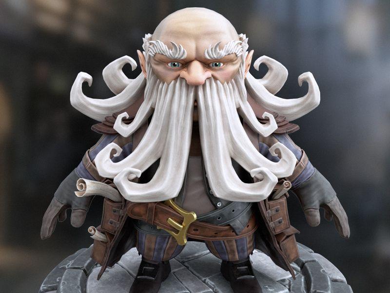 Elder Dwarf, RealTime Character