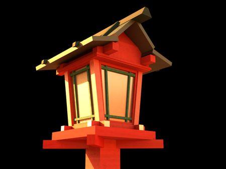 Japanese wood lantern