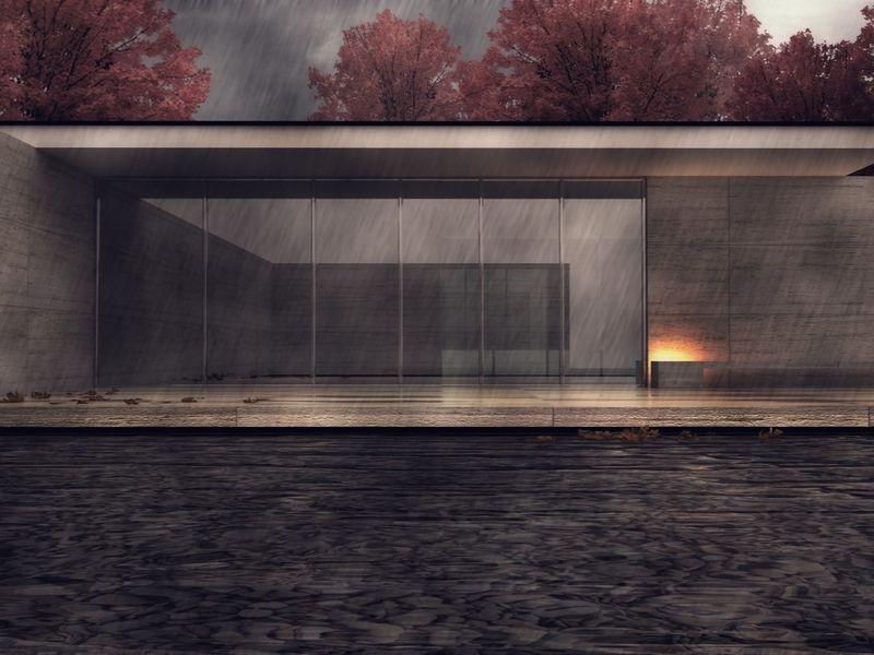 Mies Van Der Rohe pavillion. Spain