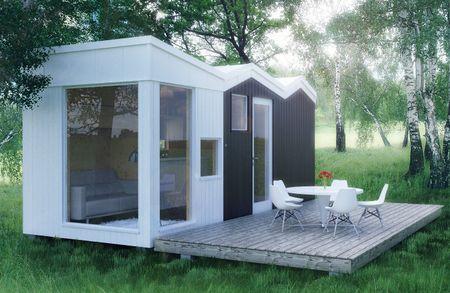 Modular Cabin visualization.Norway