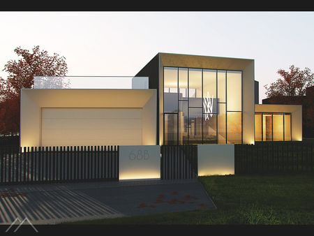 Individual house visualization. Lithuania