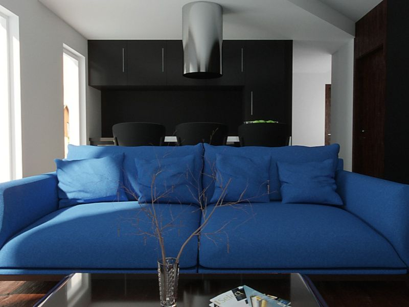 Blue. Interior. Lithuania