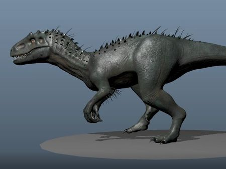 I-rex walk cycle - 3D animation