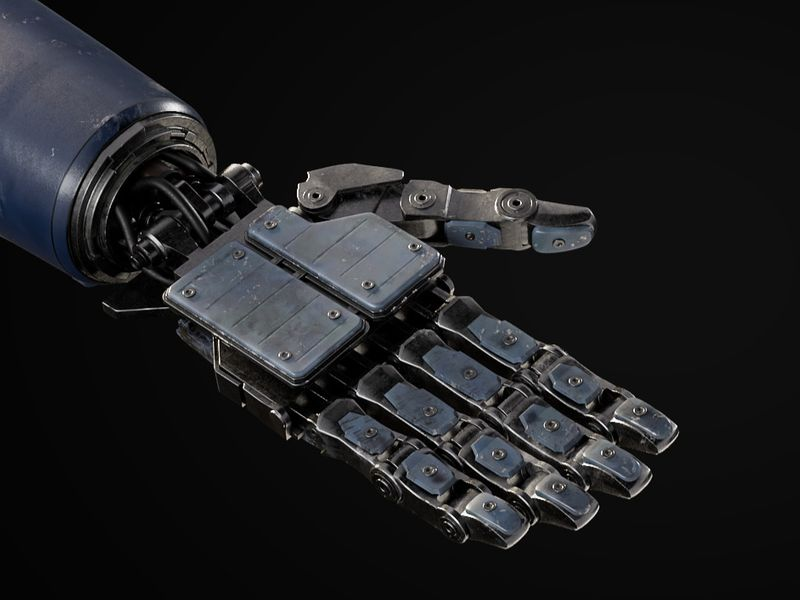 Chappie's Hand - Modeling/Texturing/Rigging