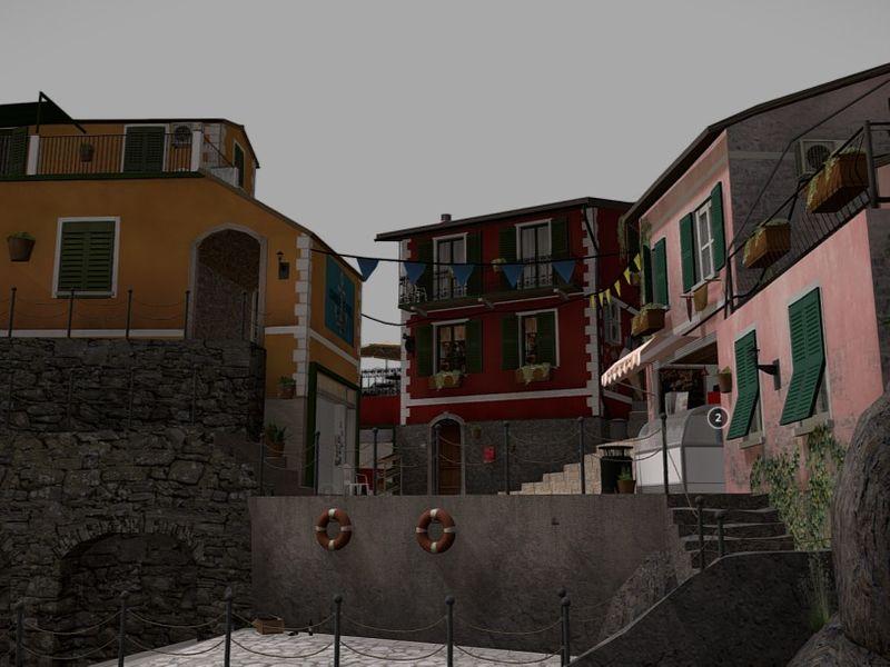 Cinque Terre Cityscene