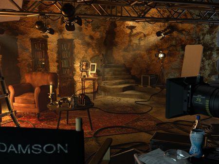 The film set