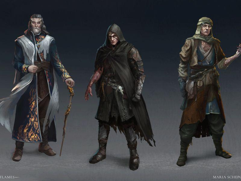 Mortal Flames - characters