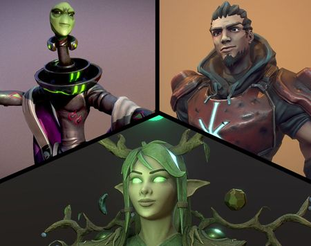Stylized Characters by Mark Krawiec