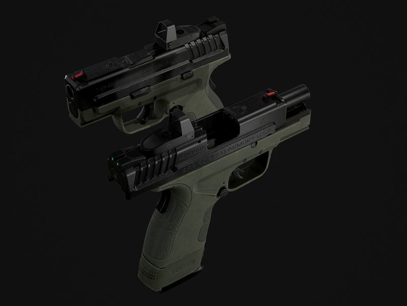 Springfield XD-9 Compact w/attachments