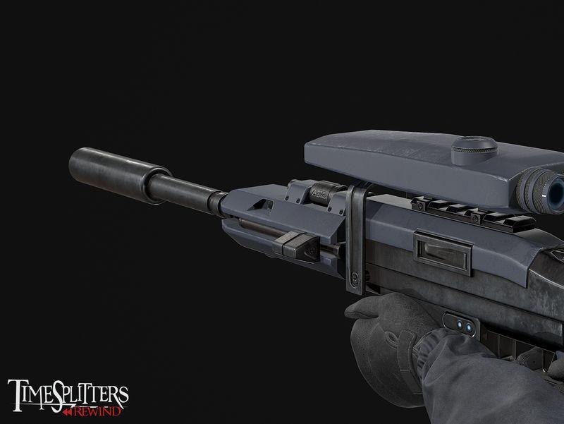 Timesplitters: Rewind Sci-Fi Sniper Rifle