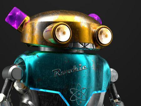 Retro 50s sci-fi robot