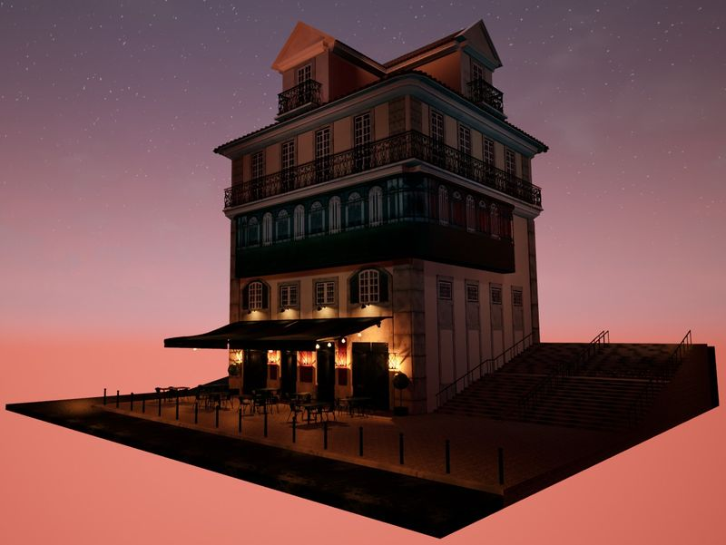 Lisbon 3D Diorama | Café No Chiado