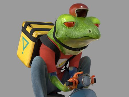 Rider frog