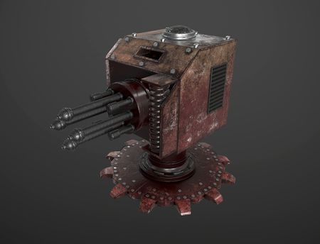 Steampunk Machine Gun Turret | WW2