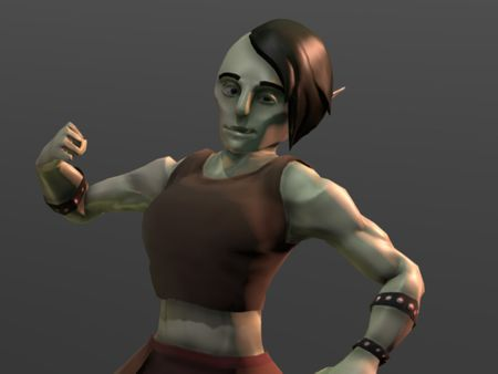Kansif Kilorak, the Half-Orc Woman