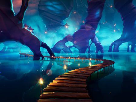 Stylized UE4 Environment - Blue Swamp