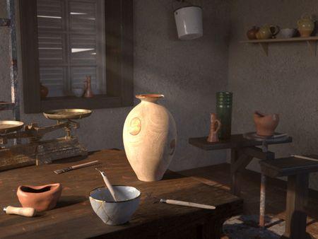 still life : Artisan potter