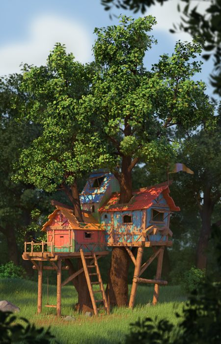 The above hideout tree