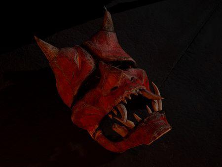 Worn Oni Mask