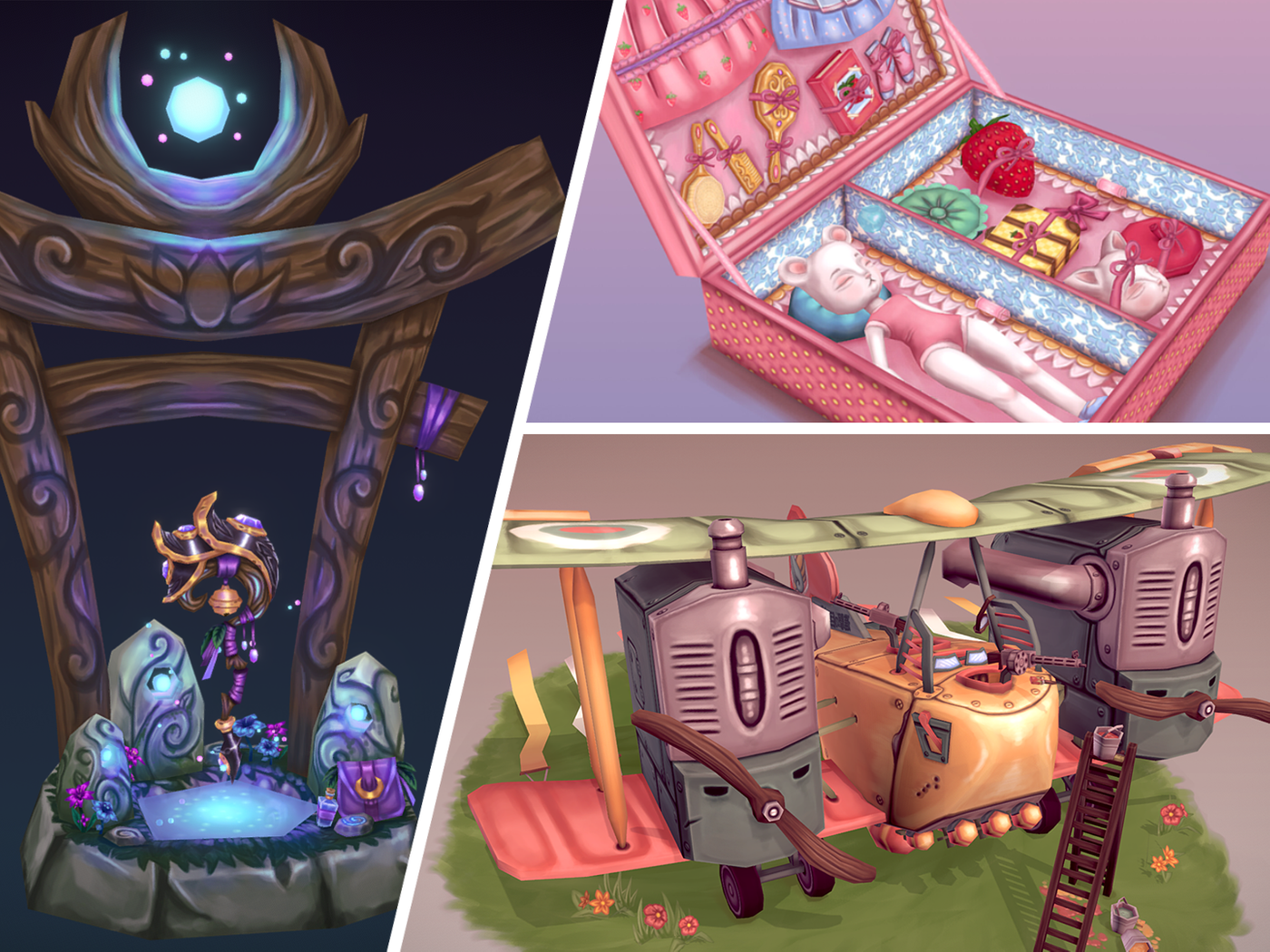 My stylized-handpainted projects!