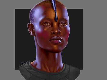 Black person - Colored Portrait study