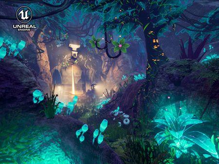 Twilight Temple - light adaptive foliage