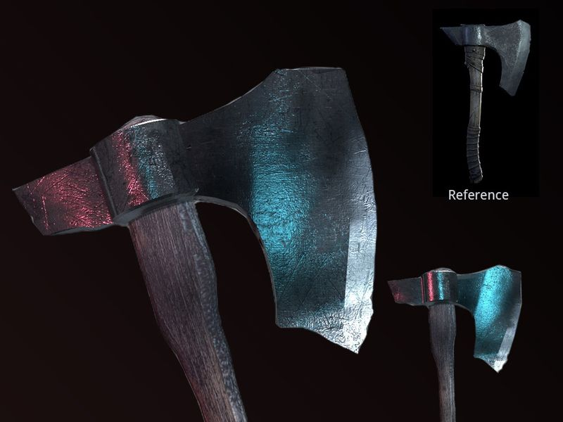 Medieval Type Battle Axe